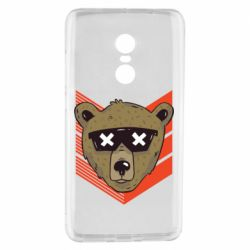 Чехол для Xiaomi Redmi Note 4 Bear with glasses