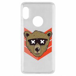 Чехол для Xiaomi Redmi Note 5 Bear with glasses