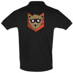 Мужская футболка поло Bear with glasses