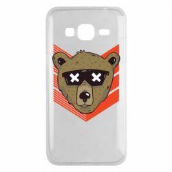 Чехол для Samsung J3 2016 Bear with glasses