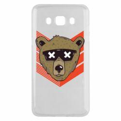 Чехол для Samsung J5 2016 Bear with glasses