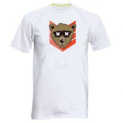 Мужская спортивная футболка Bear with glasses