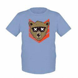 Детская футболка Bear with glasses