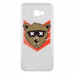 Чехол для Samsung J4 Plus 2018 Bear with glasses
