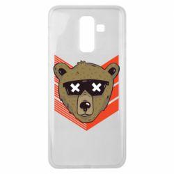 Чехол для Samsung J8 2018 Bear with glasses