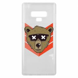 Чехол для Samsung Note 9 Bear with glasses