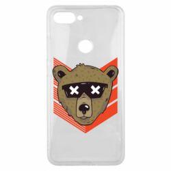 Чехол для Xiaomi Mi8 Lite Bear with glasses