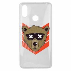 Чехол для Xiaomi Mi Max 3 Bear with glasses