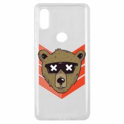 Чехол для Xiaomi Mi Mix 3 Bear with glasses