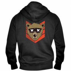 Мужская толстовка на молнии Bear with glasses