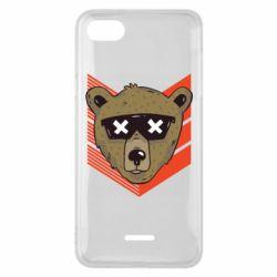 Чехол для Xiaomi Redmi 6A Bear with glasses