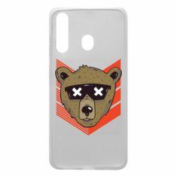 Чехол для Samsung A60 Bear with glasses