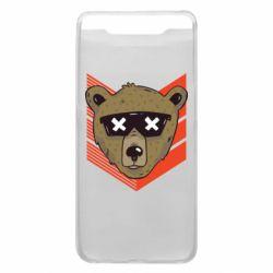 Чехол для Samsung A80 Bear with glasses