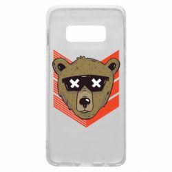 Чехол для Samsung S10e Bear with glasses