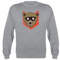 Реглан (свитшот) Bear with glasses