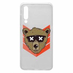Чехол для Xiaomi Mi9 Bear with glasses