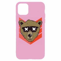 Чехол для iPhone 11 Bear with glasses