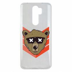 Чехол для Xiaomi Redmi Note 8 Pro Bear with glasses