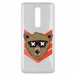 Чехол для Xiaomi Mi9T Bear with glasses