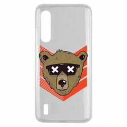Чехол для Xiaomi Mi9 Lite Bear with glasses