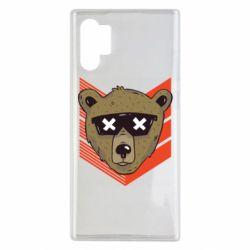 Чехол для Samsung Note 10 Plus Bear with glasses