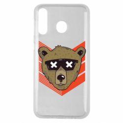 Чехол для Samsung M30 Bear with glasses