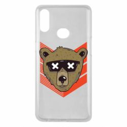 Чехол для Samsung A10s Bear with glasses