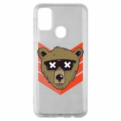 Чехол для Samsung M30s Bear with glasses