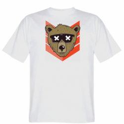Мужская футболка Bear with glasses