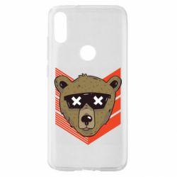 Чехол для Xiaomi Mi Play Bear with glasses