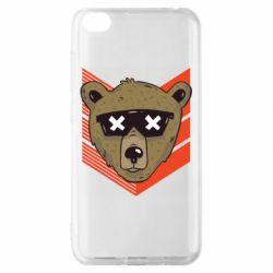 Чехол для Xiaomi Redmi Go Bear with glasses