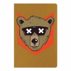 Блокнот А5 Bear with glasses