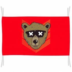 Флаг Bear with glasses