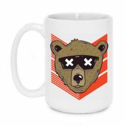 Кружка 420ml Bear with glasses