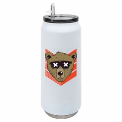 Термобанка 500ml Bear with glasses