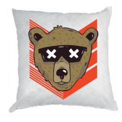 Подушка Bear with glasses