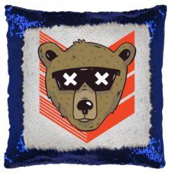 Подушка-хамелеон Bear with glasses