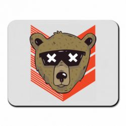 Коврик для мыши Bear with glasses