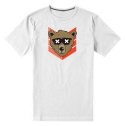 Мужская стрейчевая футболка Bear with glasses