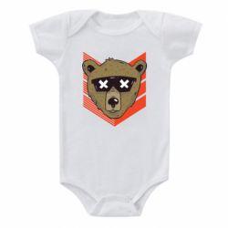 Детский бодик Bear with glasses