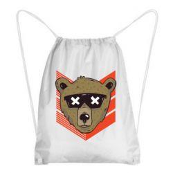 Рюкзак-мешок Bear with glasses