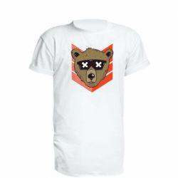 Удлиненная футболка Bear with glasses