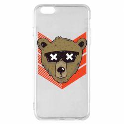 Чехол для iPhone 6 Plus/6S Plus Bear with glasses