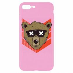 Чехол для iPhone 7 Plus Bear with glasses