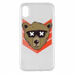 Чехол для iPhone X/Xs Bear with glasses