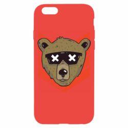 Чехол для iPhone 6/6S Bear with glasses