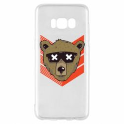 Чехол для Samsung S8 Bear with glasses