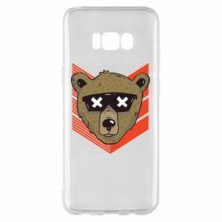 Чехол для Samsung S8+ Bear with glasses