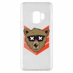 Чехол для Samsung S9 Bear with glasses