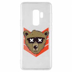 Чехол для Samsung S9+ Bear with glasses